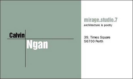 Architect Cards architectural business cards