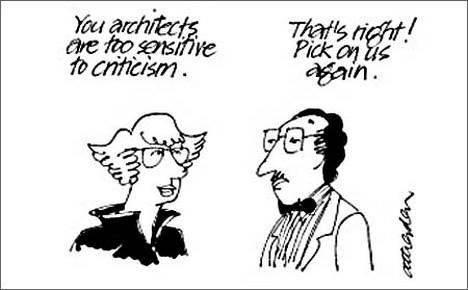 Architecture Criticism Cartoon and Quote Bruce Angle Geoffrey Atherden