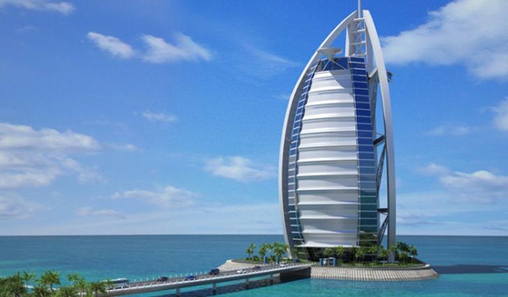 Burj al arab dubai hotel 7 stars world class interior lobby
