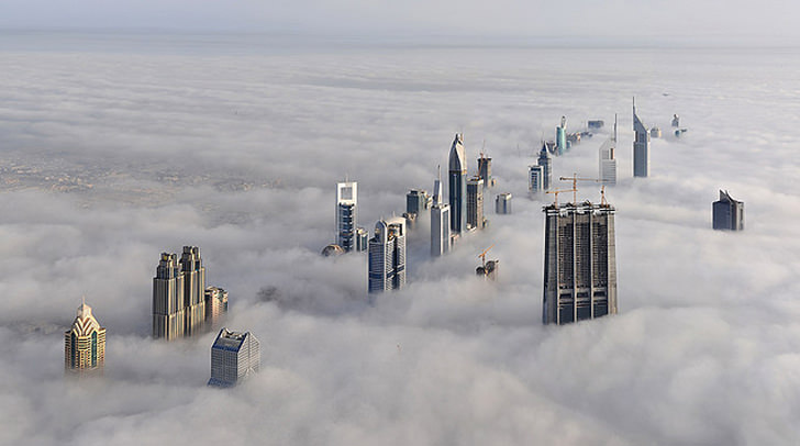 dubai Skyscrapers cloud clouds