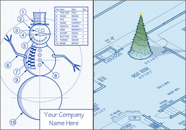 Christmas Card for Architects pinterest instagram twitter facebook