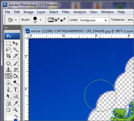 Automatically Erase Background via Photoshop