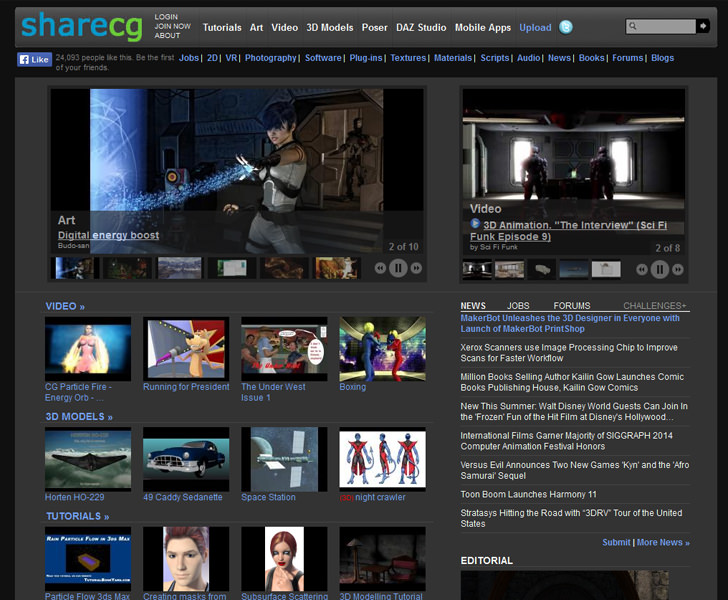 sharcg 3dmax 3d free library