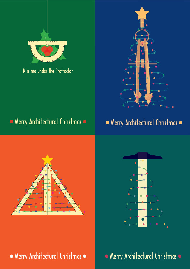 Happy holidays from the architects! We made you a card. To celebrate, here's a few Christmas Cards from famous architects from the popular.