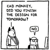 Dilbert Cad Monkey And The Truth Of Sitting At Your Desk For 9 Hours A Day