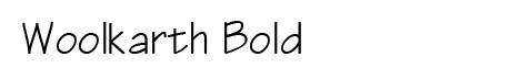 woolkarth bold font