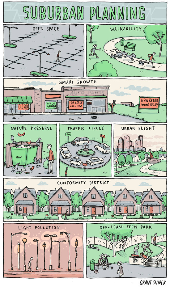 Suburban Planning Incidental Comics on Architecture Design and Architects instagram facebook twitter pinterest