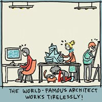 6 Incidental Comics on Architecture Design and Architects
