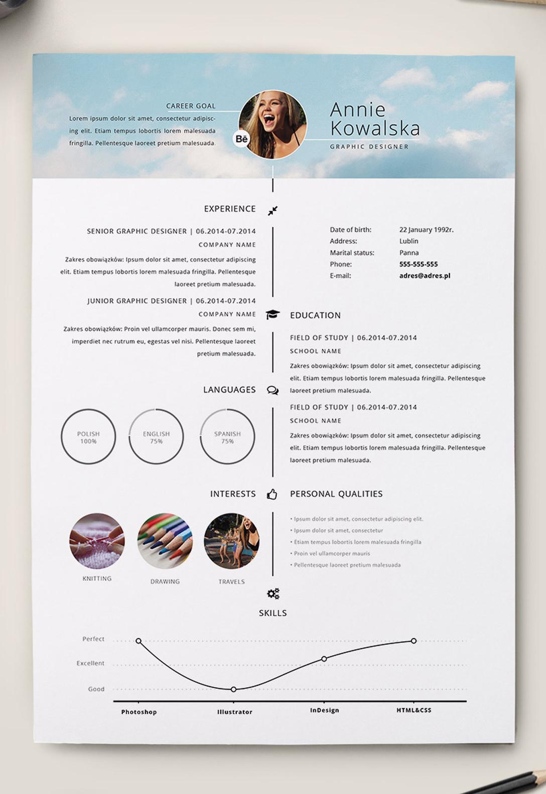 7 Free Editable Minimalist Resume CV In Adobe Illustrator And shop Format