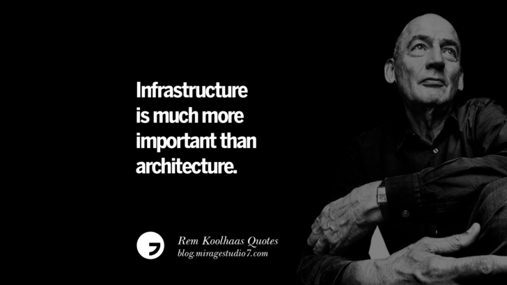 Infrastructure is much more important than architecture.